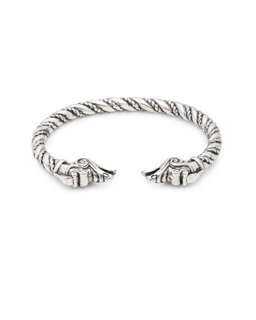 Perepaix - Metallic Twisted Cuff Bracelet - Lyst