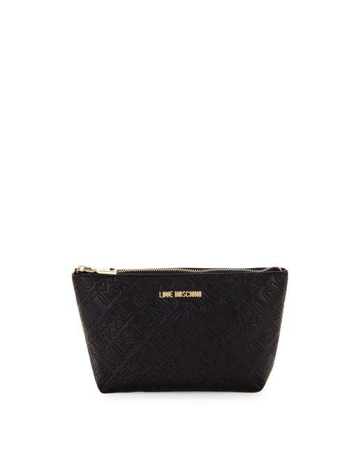 Love Moschino - Black Logo Makeup Bag - Lyst