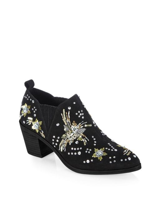 Rebecca Minkoff - Black Lucy Embellished Leather Ankle Boots - Lyst