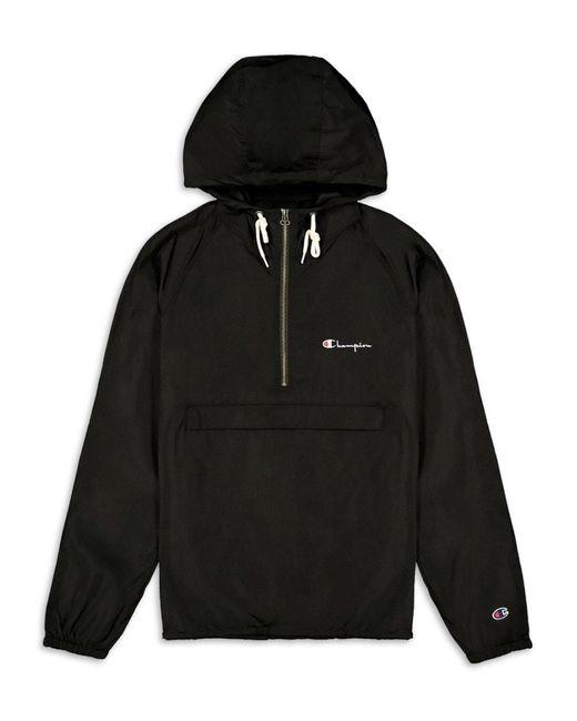 Champion Blue Half-zip Hooded Jacket for men