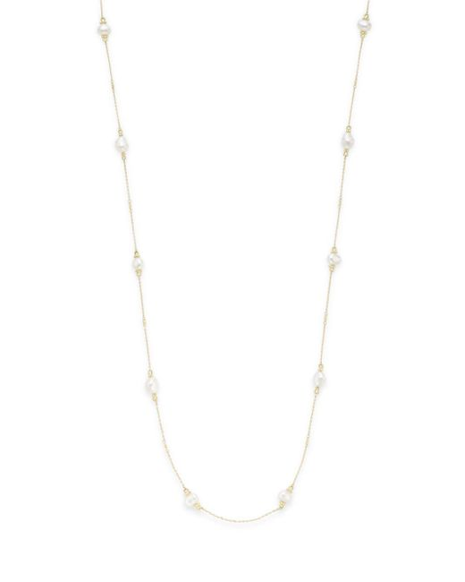 Judith Ripka - Metallic Bahama 6mm-9mm White Baroque Freshwater Pearl & 18k Yellow Gold Necklace - Lyst