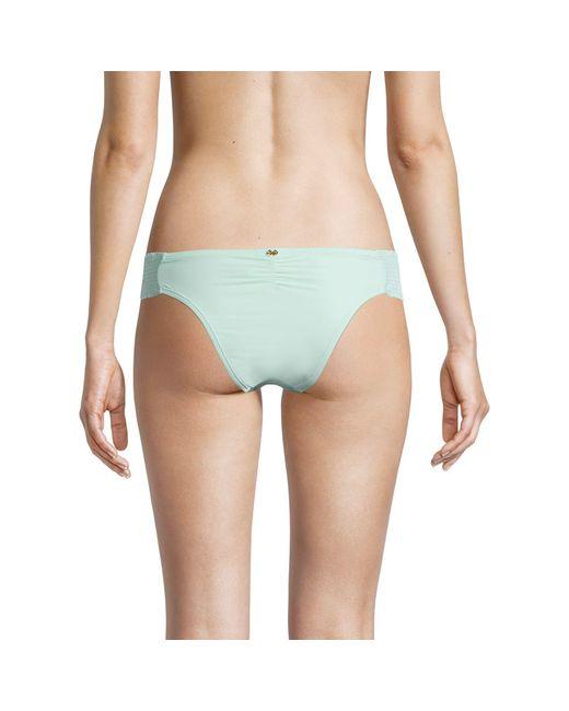 Pilyq Blue Smocked Bandeau Bikini Bottom
