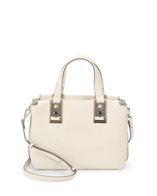 Vince Camuto - Gray Bitty Leather Satchel - Lyst