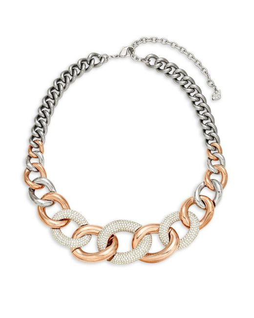 Swarovski - Metallic Crystal Choker Necklace - Lyst