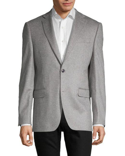 Saks Fifth Avenue - Blue Cashmere Blazer for Men - Lyst