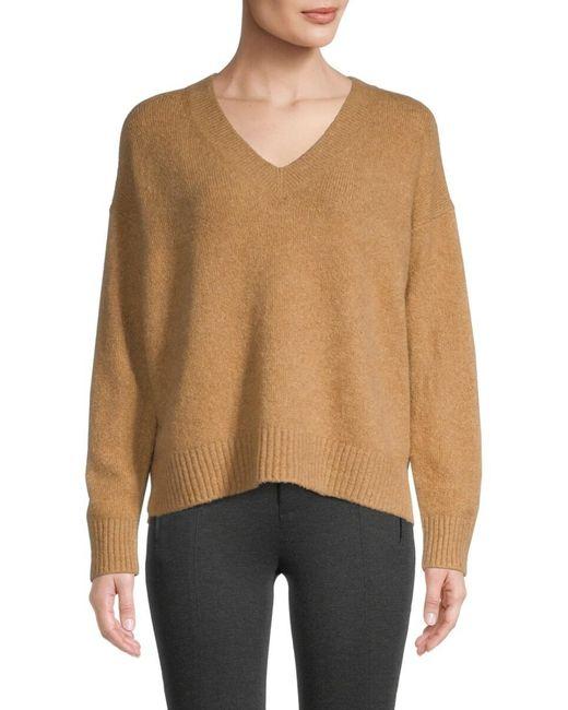 Vince Women's V-neck Sweater - White - Size M