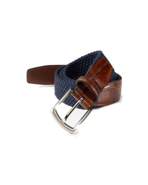 Saks Fifth Avenue Blue Collection Woven Belt for men