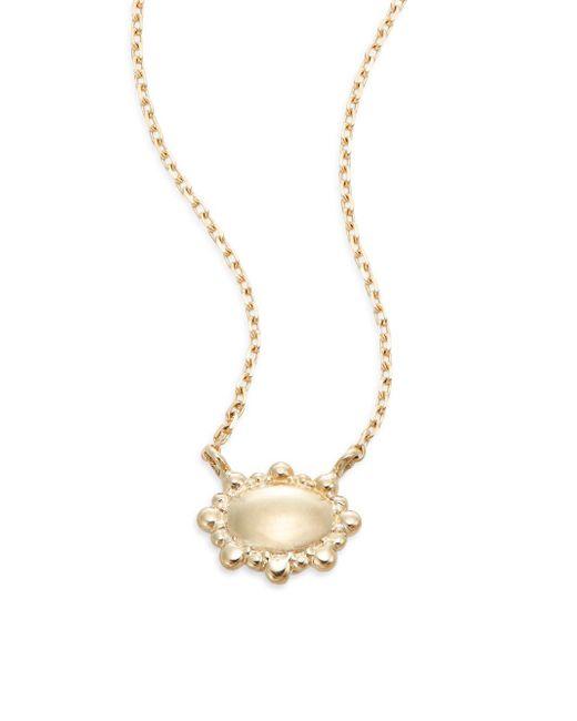 Anzie - Metallic Dew Drop 14k Yellow Gold Pendant Necklace - Lyst