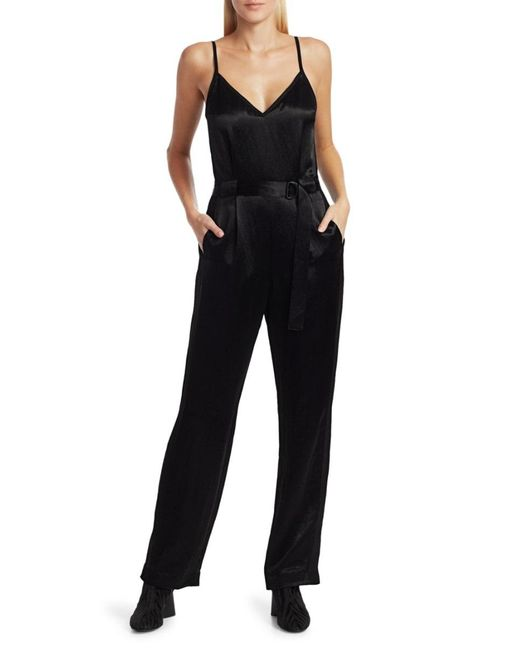 Rag & Bone Women's Rochelle Satin Jumpsuit - Black - Size 0