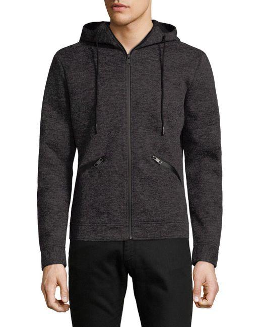 Antony Morato - Gray Heathered Fleece Hoodie for Men - Lyst