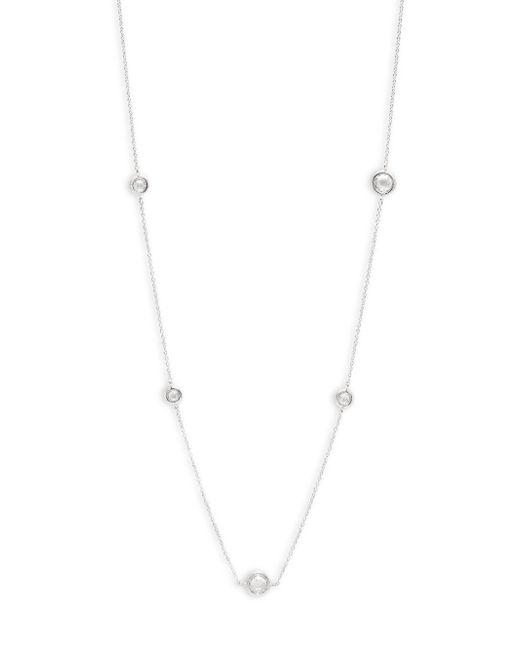 Adriana Orsini - Metallic Cubic Zirconia Long Single Strand Necklace - Lyst
