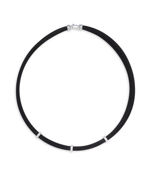 Alor - Black 18k White Gold Cable Necklace - Lyst