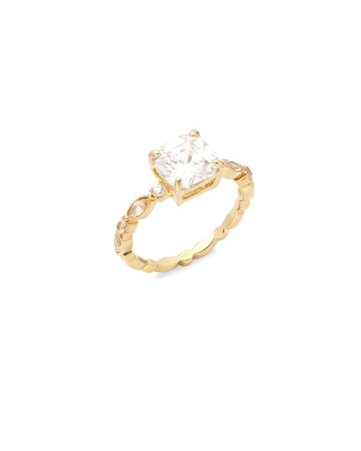 Saks Fifth Avenue | Metallic Classic Princess Studded Ring | Lyst