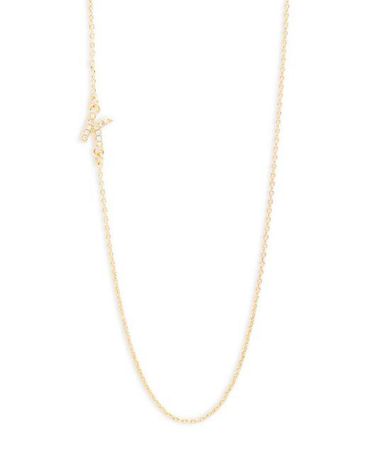 BaubleBar   Metallic Diamanda Alpha 14k Goldplated K-necklace   Lyst
