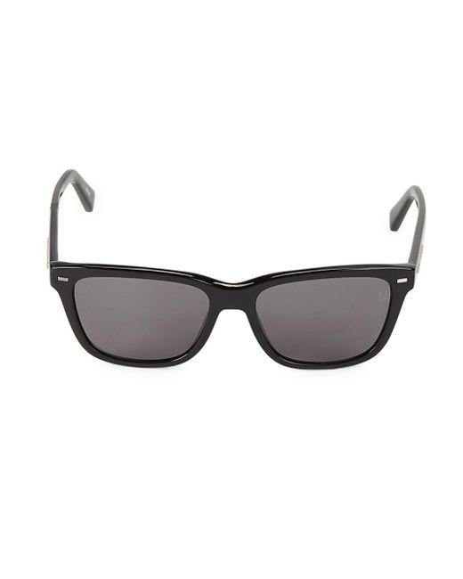 Ermenegildo Zegna Black 57mm Square Sunglasses for men