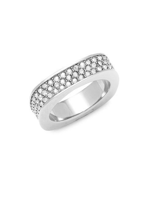 Swarovski - Metallic Crystal Sterling Silver Ring - Lyst