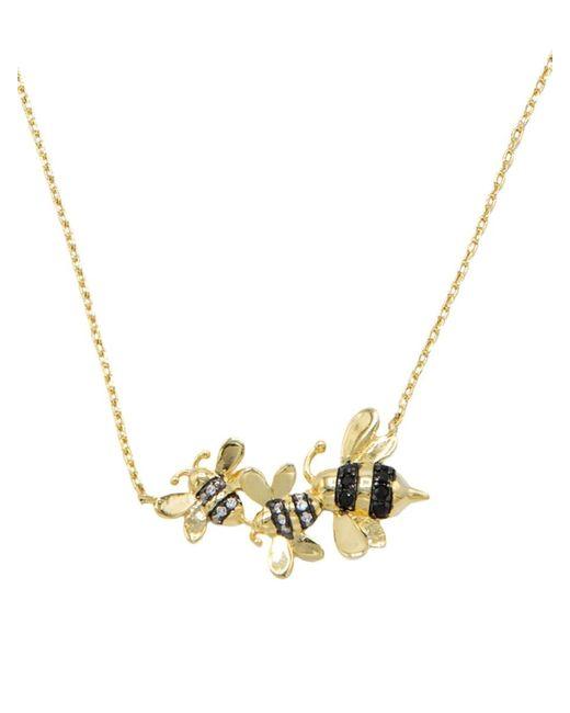 CZ by Kenneth Jay Lane Metallic Women's Animal 14k Goldplated & Crystal Honey Bee Pendant Necklace