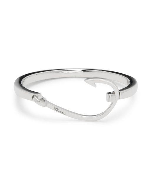 Miansai - Metallic Silverplated Cuff Bracelet - Lyst