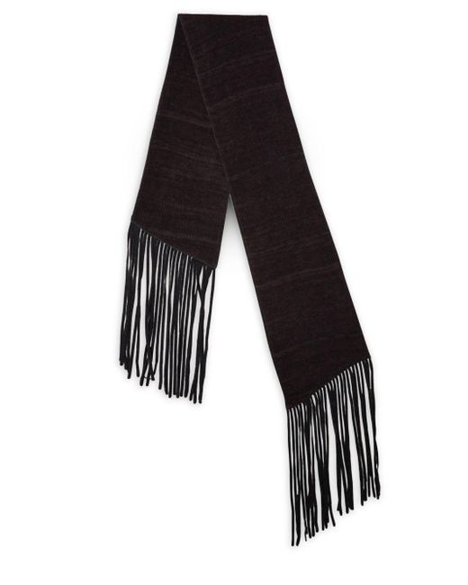 John Varvatos - Black Double Layer Wool Scarf for Men - Lyst