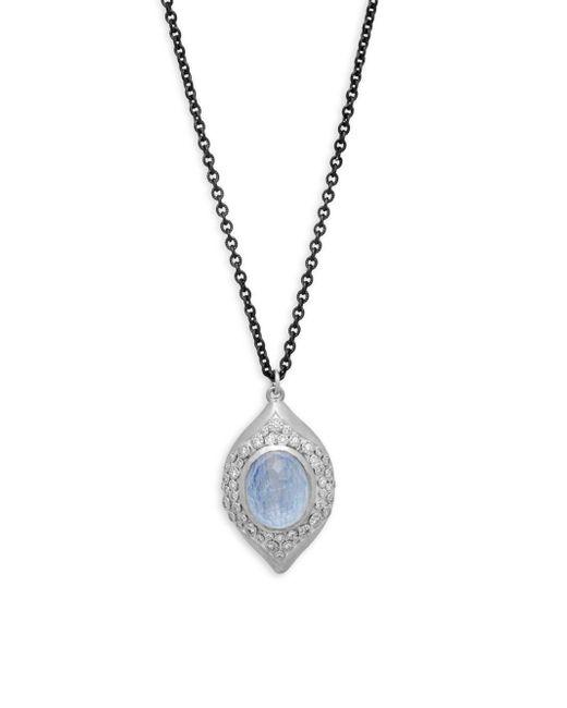 Armenta - Metallic New World Diamond & Gemstone Doublet Pendant Necklace - Lyst