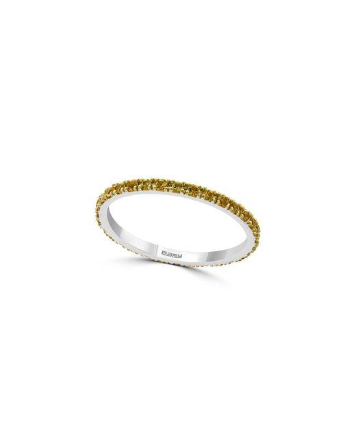 Effy Multicolor 14k White Gold & Diamond Flower Pendant Necklace
