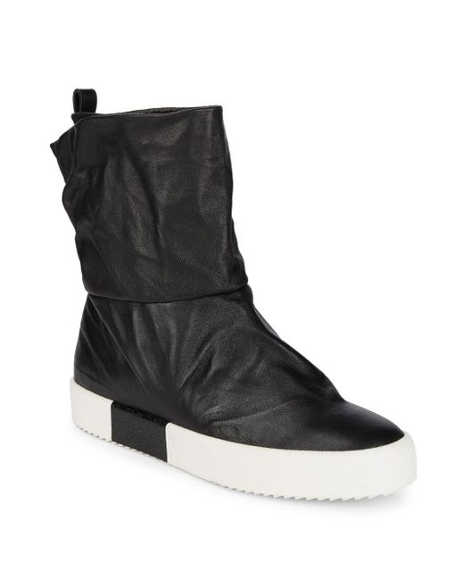 Giuseppe Zanotti | Black Pull-on Leather Ankle Boots | Lyst
