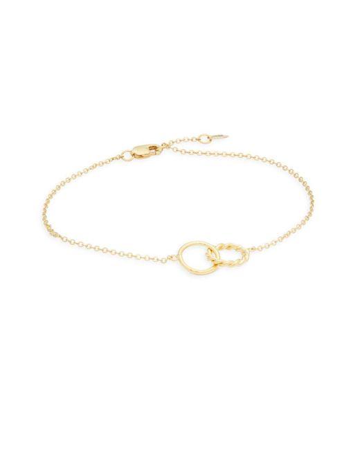 Saks Fifth Avenue - Metallic 14k Gold Plain Twist Bracelet - Lyst