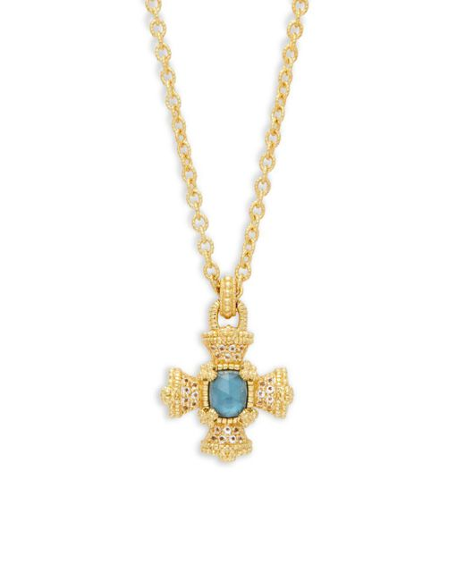 Judith Ripka - Metallic London Blue Topaz & Sterling Silver Pendant Necklace - Lyst
