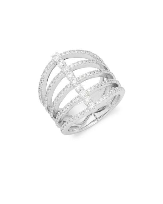 KC Designs - Metallic Diamond & 14k White Gold Five Band Modern Ring - Lyst