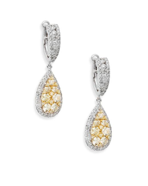 Effy - Final Call 2.07 Tcw Diamond & 14k White Gold Drop Earrings - Lyst
