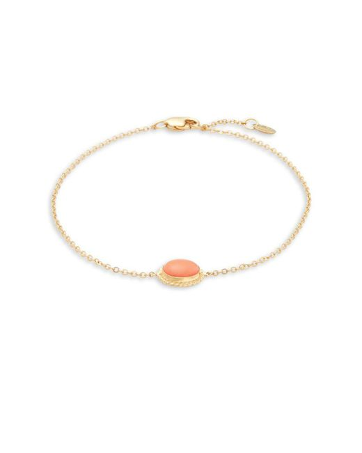 Saks Fifth Avenue - Metallic 14k Gold And Coral Adjustable Bracelet - Lyst