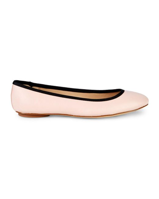 Karl Lagerfeld - Black Leather Ballet Flats - Lyst