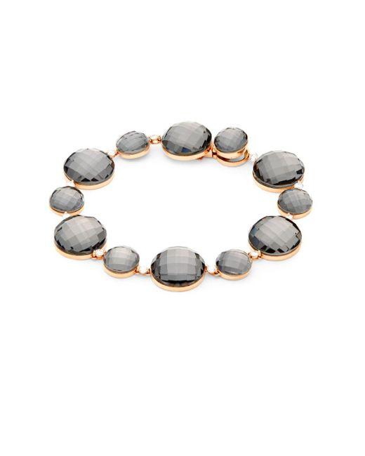 Roberto Coin - Black 18k Yellow Gold, Diamond & Quartz Cocktail Bracelet - Lyst