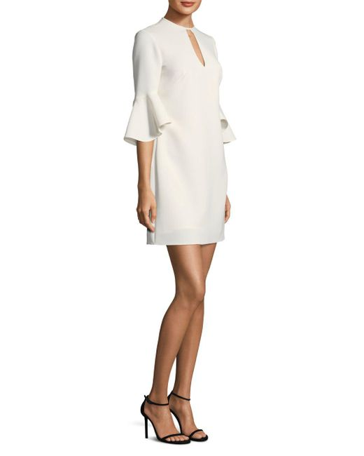 Shoshanna - White Casmalia Bell-sleeve Dress - Lyst