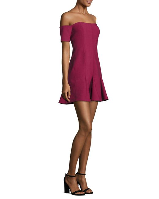 Cinq À Sept - Multicolor Elva Off-the-shoulder Godet Mini Dress - Lyst
