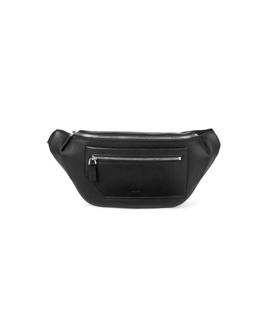 Bally Black Brandon Pebbled Leather Belt Bag for men