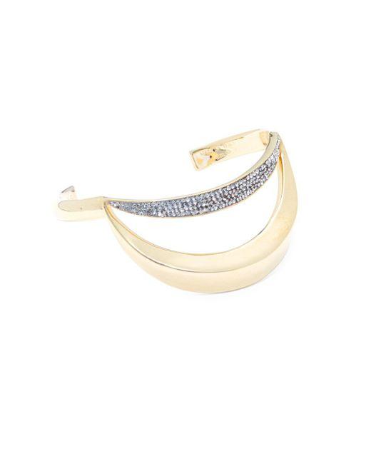 Chloé | Metallic Crystal Bangle Bracelet | Lyst