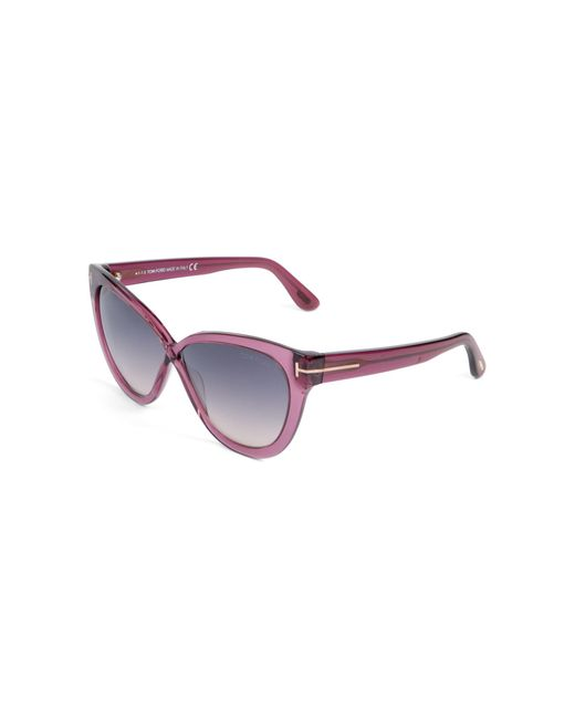 Tom Ford Women's Purple 59mm Cat Eye Sunglasses