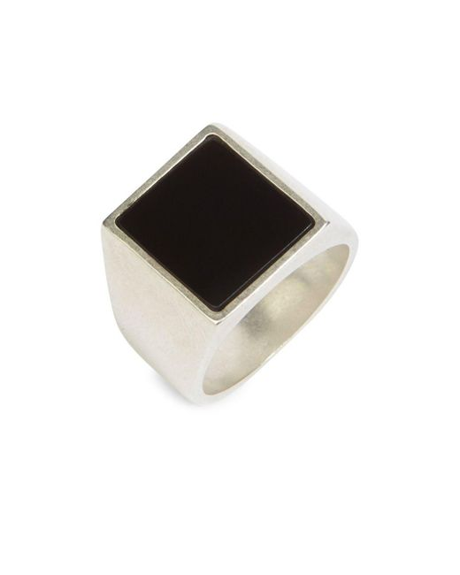 Maison Margiela - Metallic Square Silver Ring for Men - Lyst