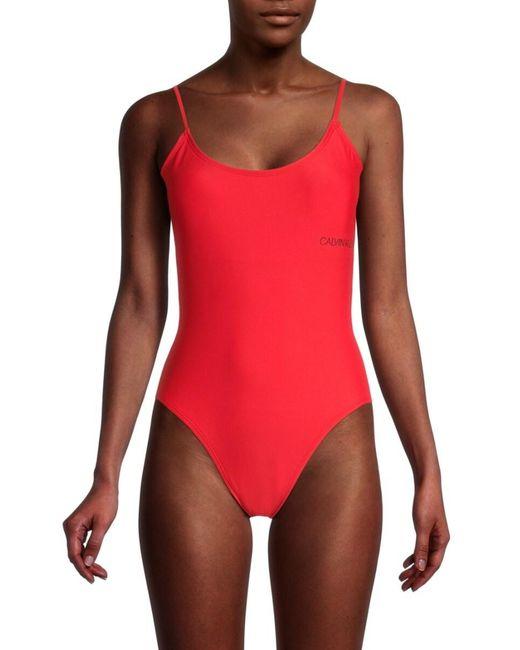 Calvin Klein Black One-piece Swimsuit