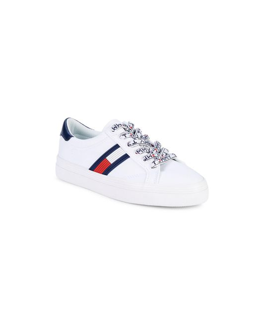 Tommy Hilfiger White Fantim Canvas Sneakers