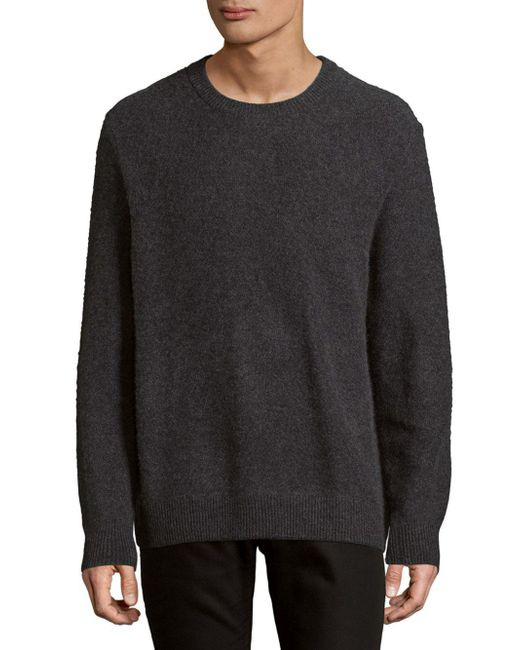 Vince - Gray Heathered Cashmere Sweater for Men - Lyst