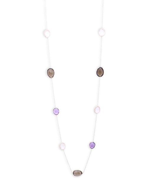 Saks Fifth Avenue - Metallic Tri-tone Quartz Single Strand Necklace - Lyst