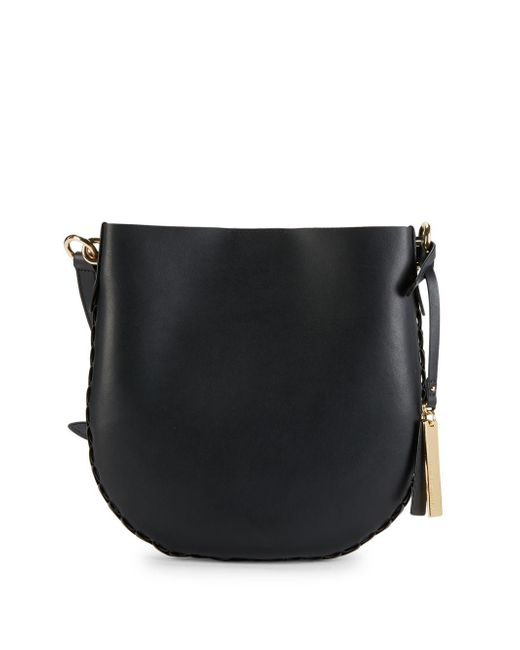 Vince Camuto - Black Leather Bucket Crossbody Bag - Lyst