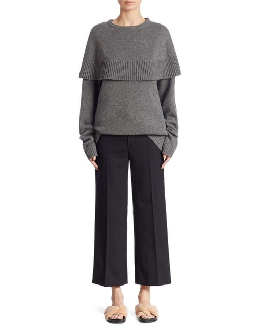 Chloé - Gray Cashmere Cape Sweater - Lyst