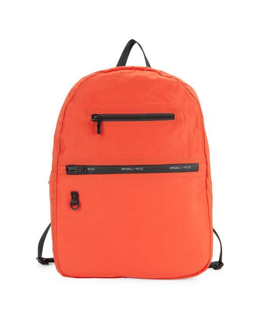 Kendall + Kylie Orange Melissa Logo Backpack