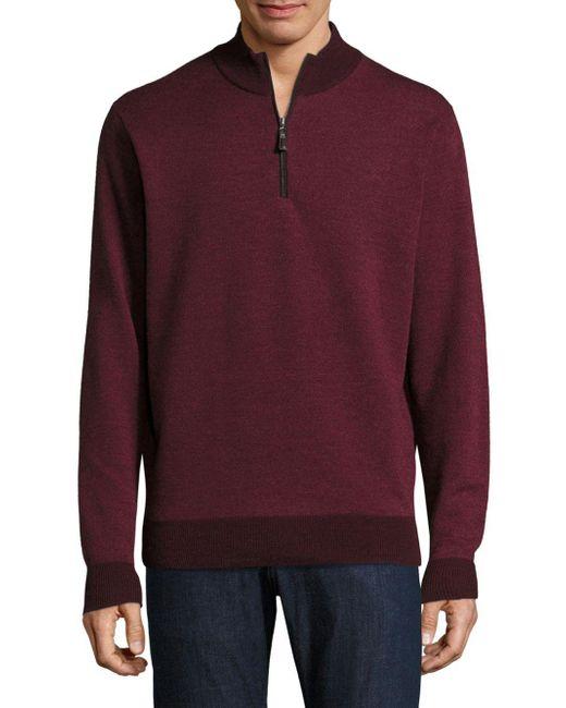 Peter Millar - Purple Birdseye Merino Wool Pullover for Men - Lyst