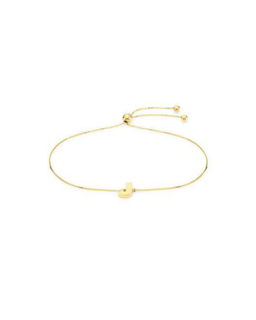 Saks Fifth Avenue Multicolor 14k Yellow Gold 'j' Charm Bracelet