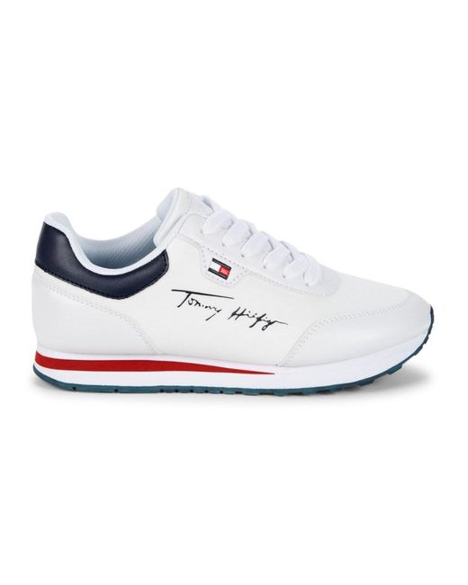Tommy Hilfiger White Twlaces Lace-up Sneakers