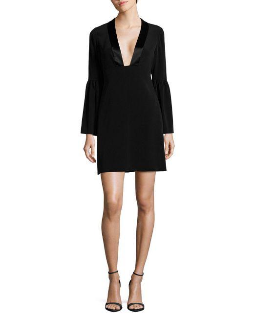 651f462ab0 Lyst - Jill Jill Stuart Deep V-neck Shift Dress in Black